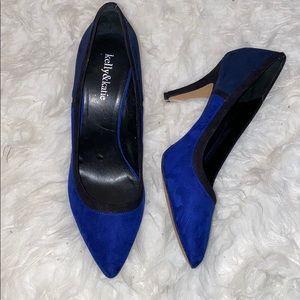 Kelly & Katie Blue Pointed Toe Heels